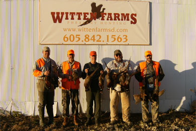Successful Pheasant Hunt at Witten Farms